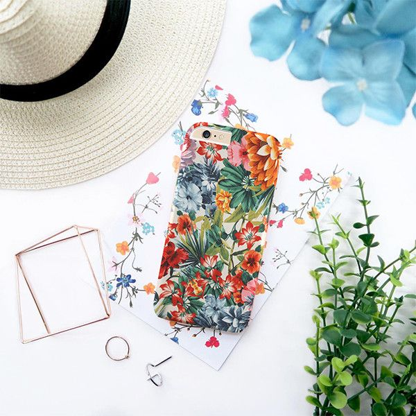 Colorful Spring flowers case for iPhone Samsung - Solomiia-Ivanytsia - Etui na…