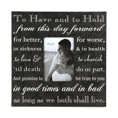Tuxedo Script Wedding Photo Frame #kirklands #weddingideas