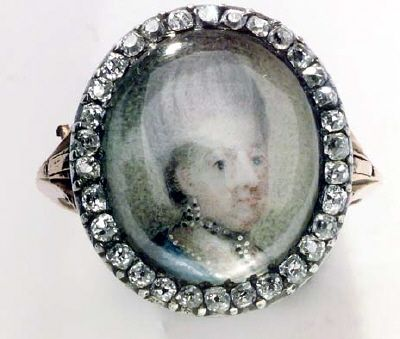 Portriat of Lovisa Ulrika of Sweden. Ring 1770.