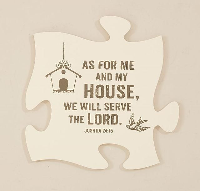 8 best Christian Home Decor images on Pinterest | Puzzle pieces ...