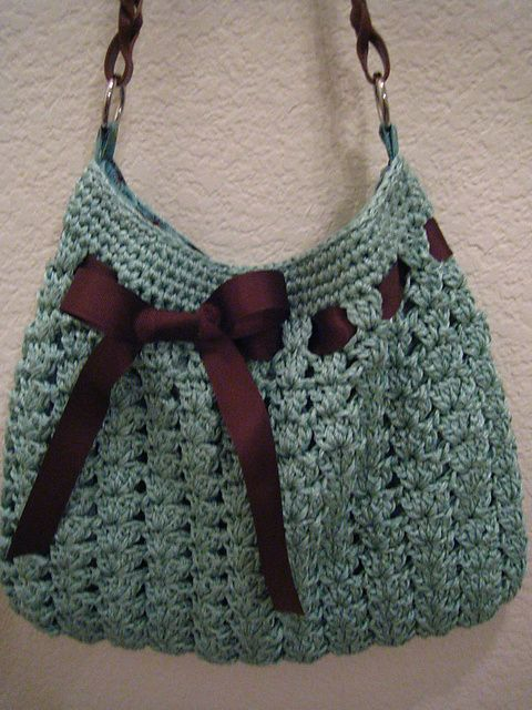 I love this bag, I use wish I knew where to get handles like that?   Ravelry: Nordstrom Crochet Hobo Bag pattern by Dao Lam