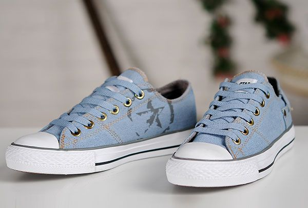 2015 Converse Jeans Vintage Light Blue Chuck Taylor All Star Low Tops  Sneakers  converse  shoes 2f05f127b