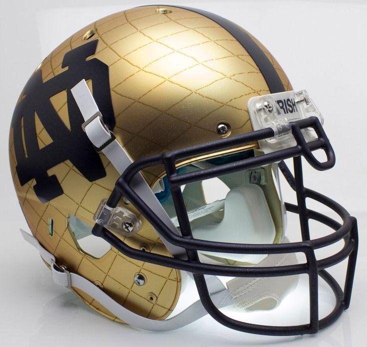 Notre Dame Fighting Irish Authentic Schutt XP Full Size Helmet - 2014 HydroSkin Indianapolis