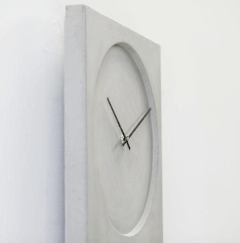 Concrete clock |