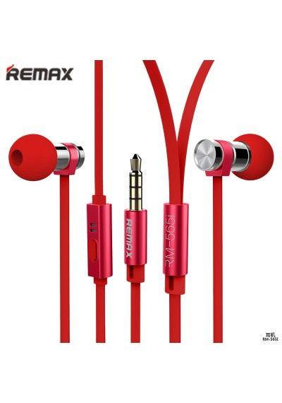 REMAX EARPHONES RM-565I Earphones red