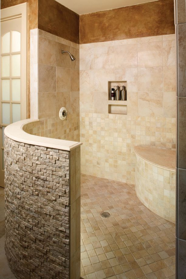 European Style House Plan 5 Beds 5 Baths 4357 Sq Ft Plan 929 893 Bathrooms Remodel Bathroom Design Doorless Shower