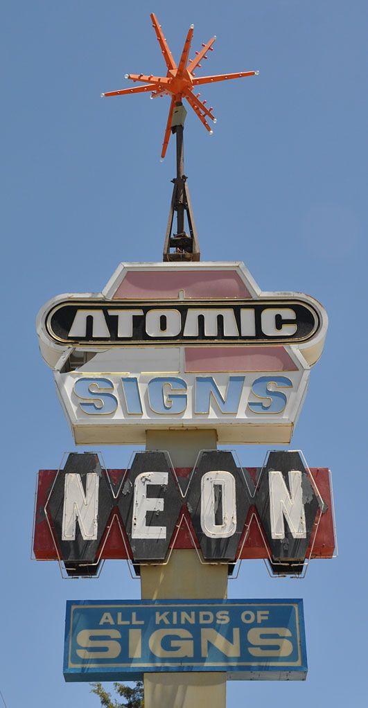 Atomic Neon Sign ~ Farmington NM.