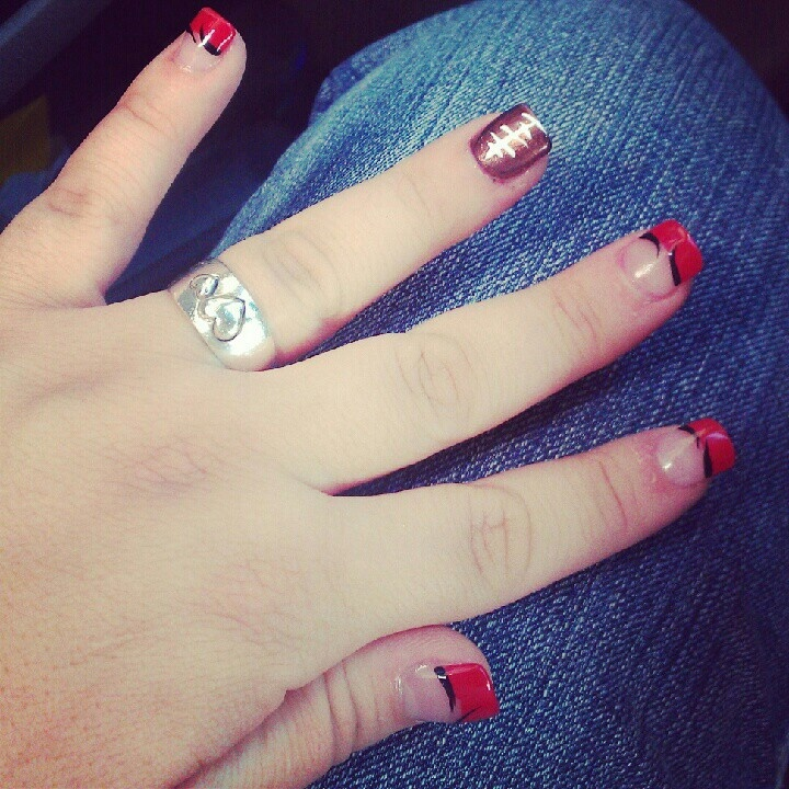10 best Sports inspired nail art images on Pinterest | Hand painted ...
