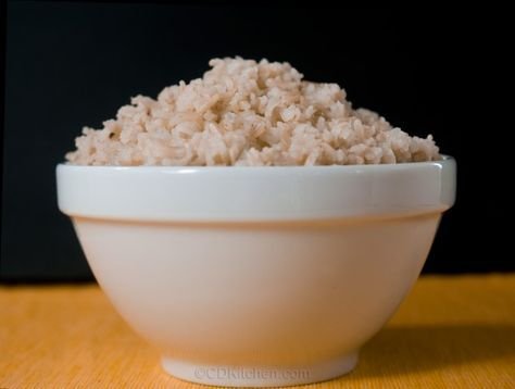 Brown Rice in the crock pot - CDKitchen.com - Want perfectly cooked brown rice? Try making it in your crock pot. Never mushy, just perfectly cooked grains of rice.