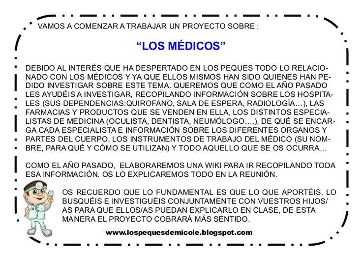 """Nota informativa del proyecto """"Los médicos"""""""