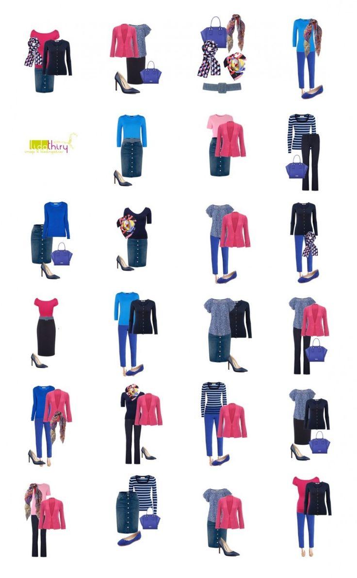 Een garderobe voor een klein budget. 12 kledingstukken geven 21 combinaties. #basisgarderobe #budgetgarderobe #wardrobecapsule