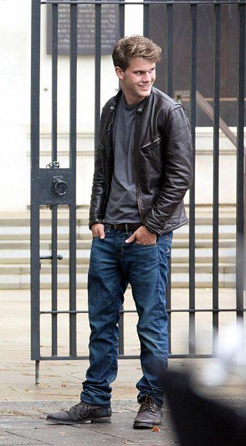 Jeremy Irvine and Levi's Skinny 511 Jeans Photograph ...