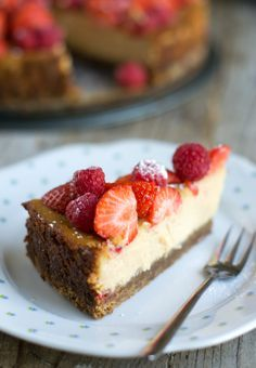 Hemelse Cheesecake met aarbeien, recept van Donna Hay | BrendaKookt.nl - met Zonnigfruit