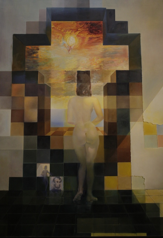 "Dali ""Gala nue regardant la mer"": Salvador Dali, Abraham Lincoln, Mediterranean Sea, Salvadordali, Art, Salvador Dali, Portraits, Twenty Meter, Gala Contempl"
