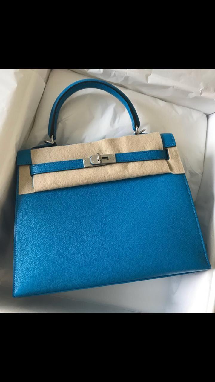 11f7d330acd3 Hermès Kelly 25 Bleu Zanzibar Sellier Chevre Mysore Palladium Hardware PHW  C Stamp 2018  kelly25  thefrenchhunter  authenticonly  hermesworld   hermesusa ...
