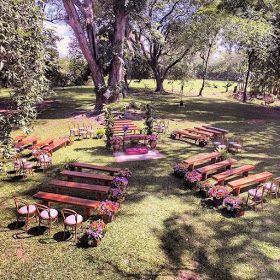 Decoração simples para casamento rústico   – Deco mostassa