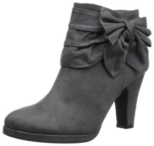 This boot is bowed and beautiful!Microfiber fabric upper with side bow embellishmentRuched vamp gives it added styleZipper closureLightly cushioned footbed $54.95 - Love this!!