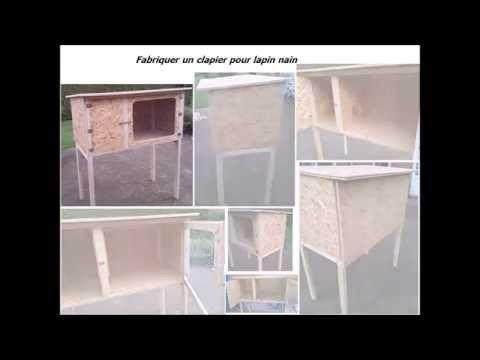 Fabrication maison d 39 un petit clapier en bois pour lapin - Fabriquer une petite maison en bois ...
