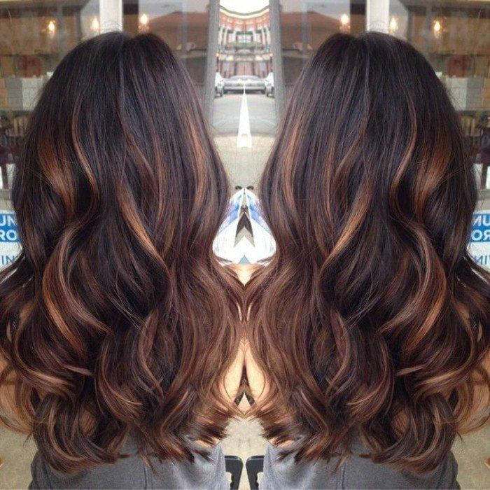 Berühmt Best 25+ Balayage cheveux noirs ideas on Pinterest | Ombre, Hair  YI53