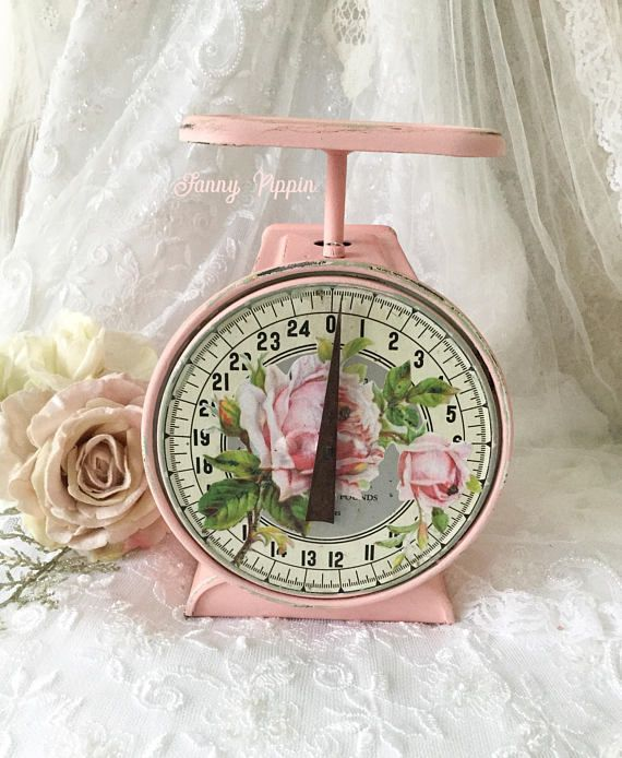 Vintage Shabby Rustic Kitchen Scale Family Scale (ad)