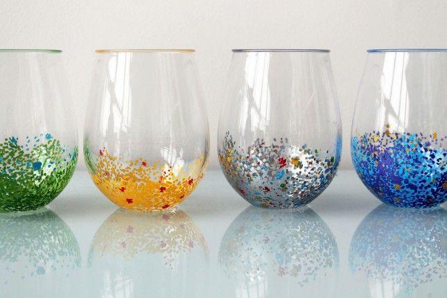 Glassware-Confetti1so cute and easy