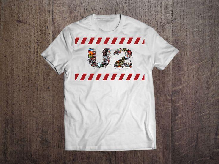 U2  Graphic Men White T-shirt Rock Band Fan Tee Shirt Size S-XXL #FruitoftheLoom #GraphicTee