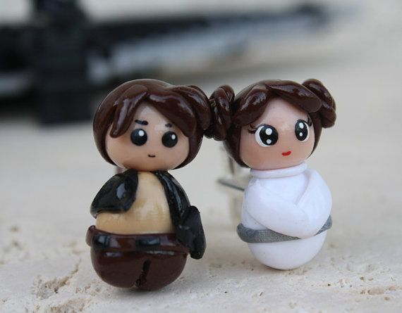 cool: Geeky Craft, Solo Cufflinks, Star Wars, Han Solo, Princesses, Princess Leia