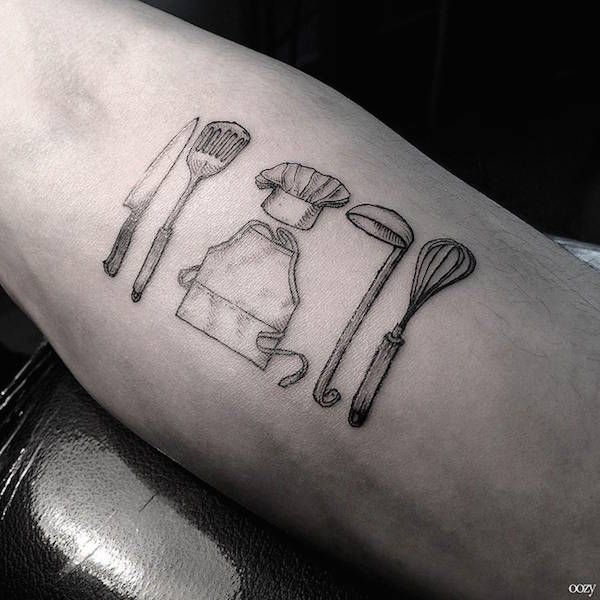 Small, Intricate Tattoo Designs That Feature Their Owners' Working Tools - DesignTAXI.com