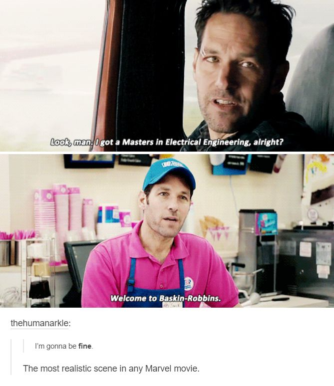 This is definitely the most realistic scene in a Marvel movie.