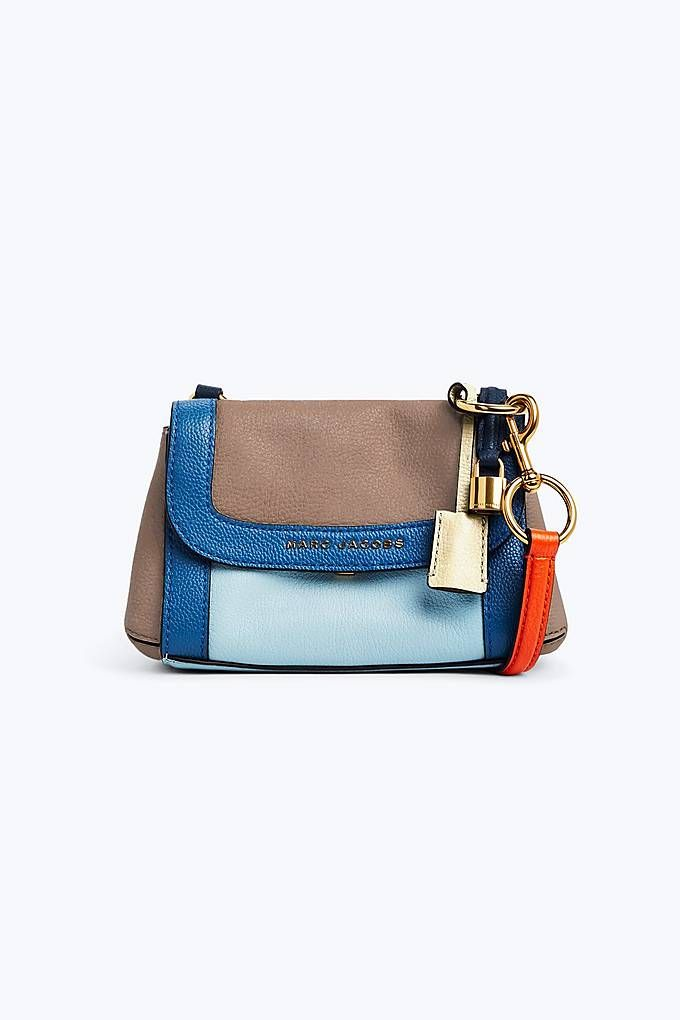 Marc Jacobs The Colorblocked Mini Boho Grind In Vintage Blue Marc Jacobs Bag Bags Clutch Wallet