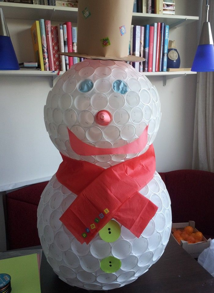 Hier mijn versie van de sneeuwpop, Als suprise gebruikt.... zeer geslaagd !