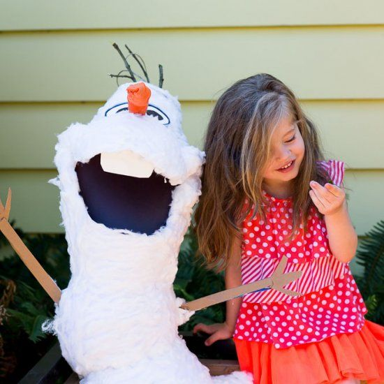 How To Make Frozen Olaf Pinata Easy DIY Tutorial