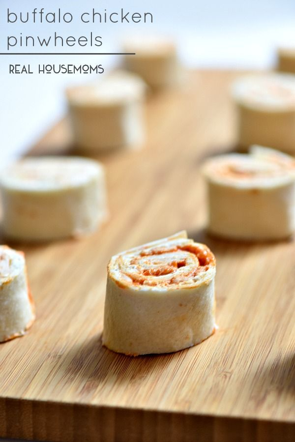Buffalo Chicken Pinwheels are the perfect make ahead game day food!