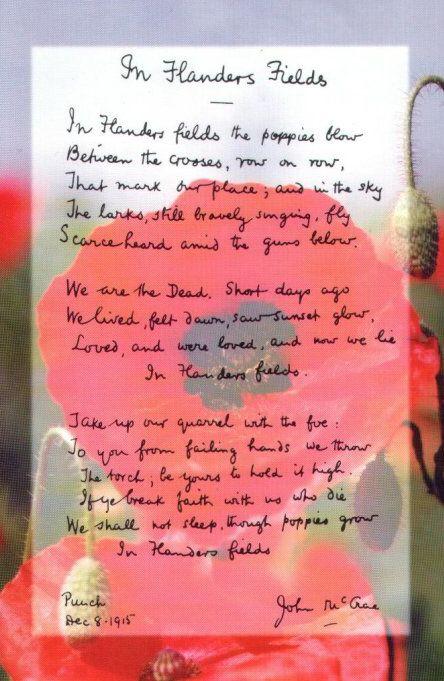 In Flander's Field...famous poem
