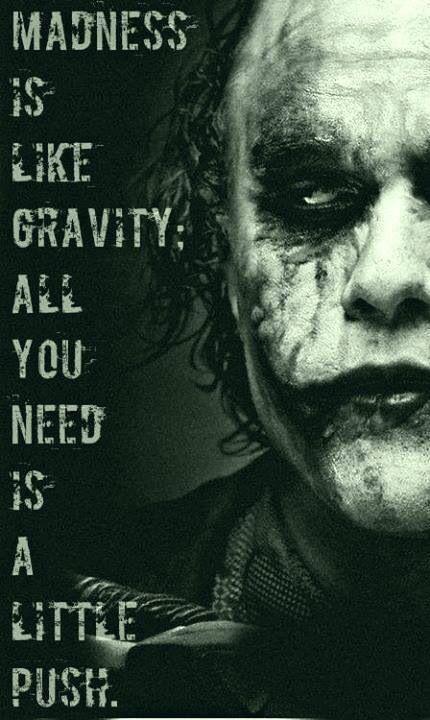 The Joker does deep....