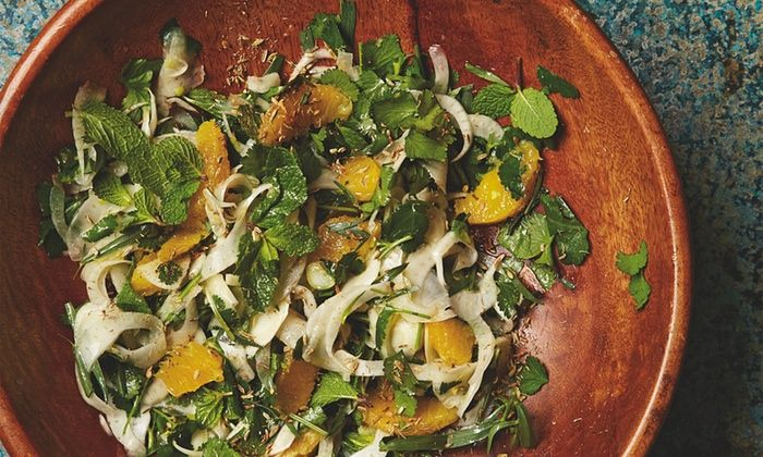 Photograph of Yotam Ottolenghi's fennel, orange and herb salad