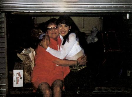 Selena Quintanilla and Her Mom