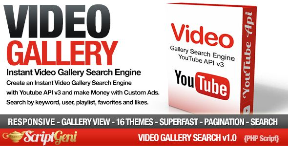 Video Gallery Search Engine