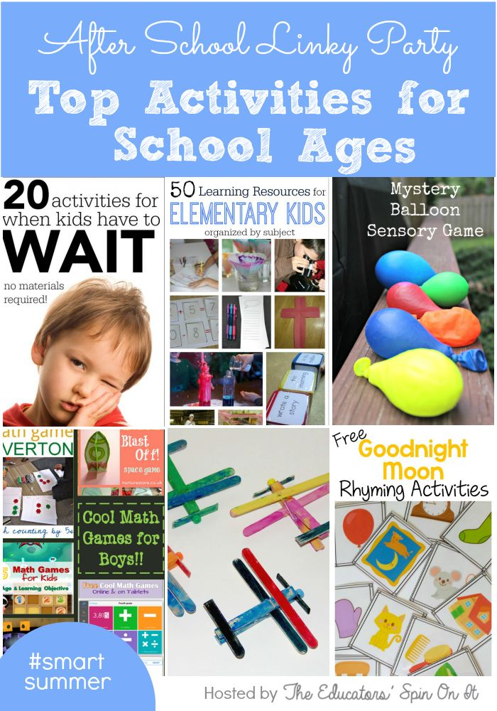Top Activities for School Ages featured on Week 30 at The Educators' Spin On It After School Linky Party