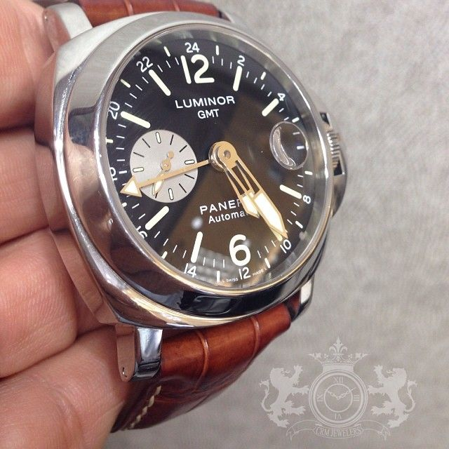 ⌚️❤️Panerai GMT Preowned like new condition. #CRMJewelers #Panerai #lovewatches
