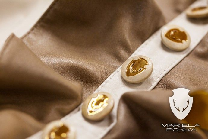 Detail of Off White Dress of Going out Collection by Mariela Pokka