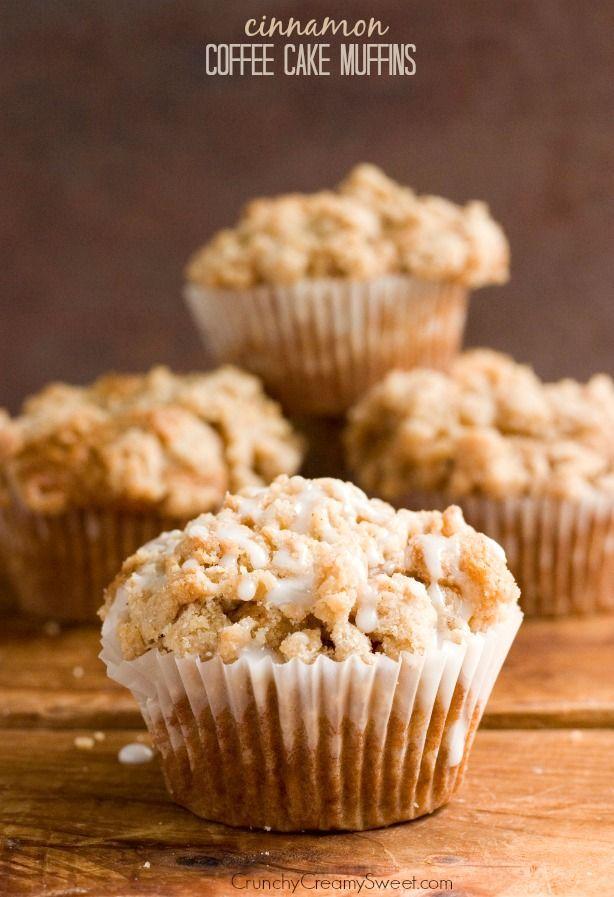 Cinnamon Coffee Cake Muffins Recipe from crunchycreamysweet.com  Cinnamon Coffee Cake Muffins Recipe