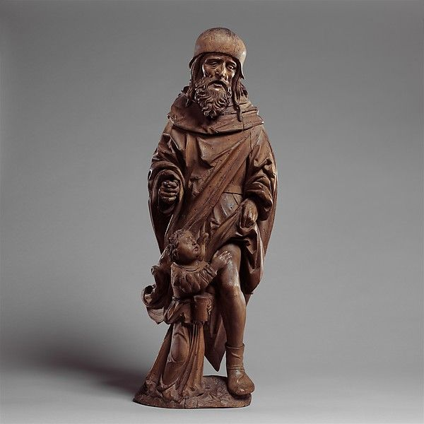 ca 1520 -  Master of the Biberach Holy Kinship (German, active 16th century) Saint Roch and the Angel. Made in Swabia, Germany