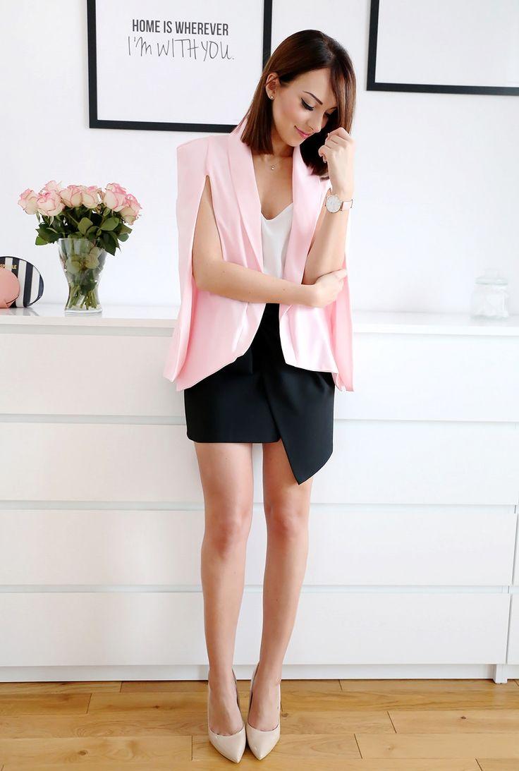 Pink cape blazers Shein.com– Plaamkaa | Joanna Kieryk