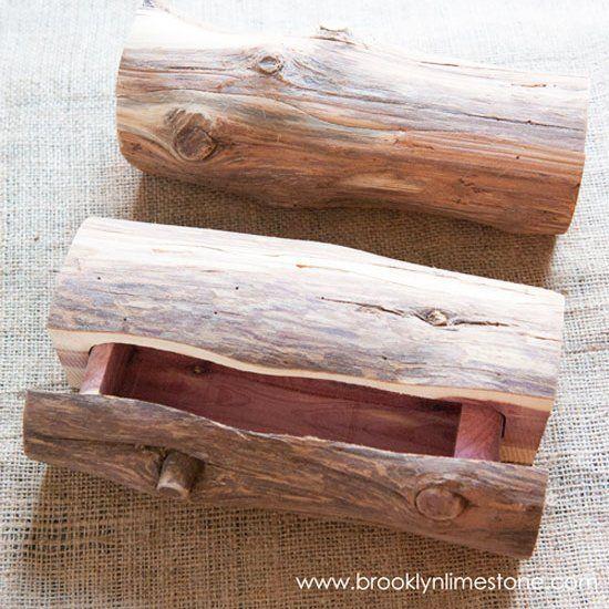 Need a secret hiding place? Make a secret log box! (via Brooklyn Limestone)