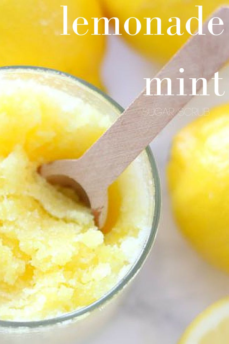 lemon mint sugar scrub--EASY!