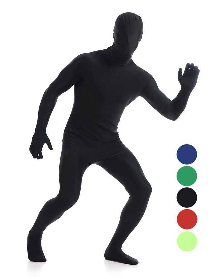 Amiliashp Mens Halloween Costume Zentai Suit Full Body Spandex Lycra Unitard Suit Second Skin Bodysuit Super Suit Costume