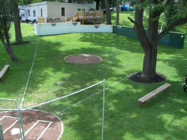 A Wiffle Ball Stadium | 29 Amazing Backyards That Will Blow Your Kids' Minds