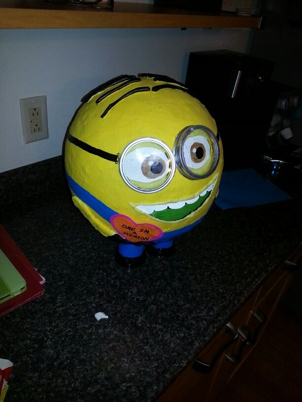minion valentines box paper mache canning lids for goggles cut plastic for the