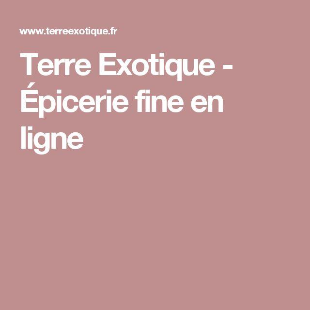 Terre Exotique - Épicerie fine en ligne